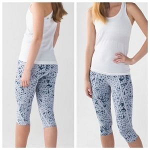 Lululemon Pedal Pace Crop  Star Crushed Silver Fox